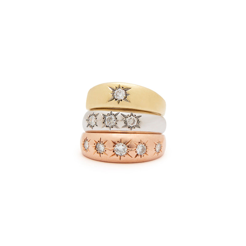 The F&B Diamond 3-Starburst Ring