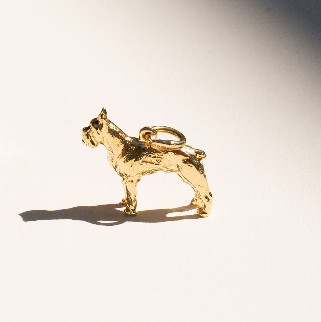 Boxer 14k Gold Dog Charm