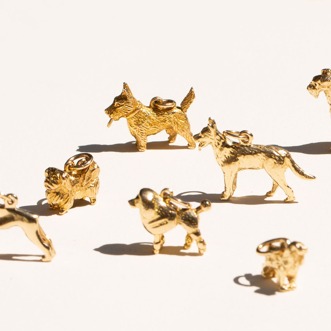 Scottie Terrier 9k Gold Movable Dog Charm