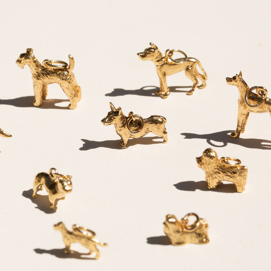 English Corgi 9K Gold Dog Charm
