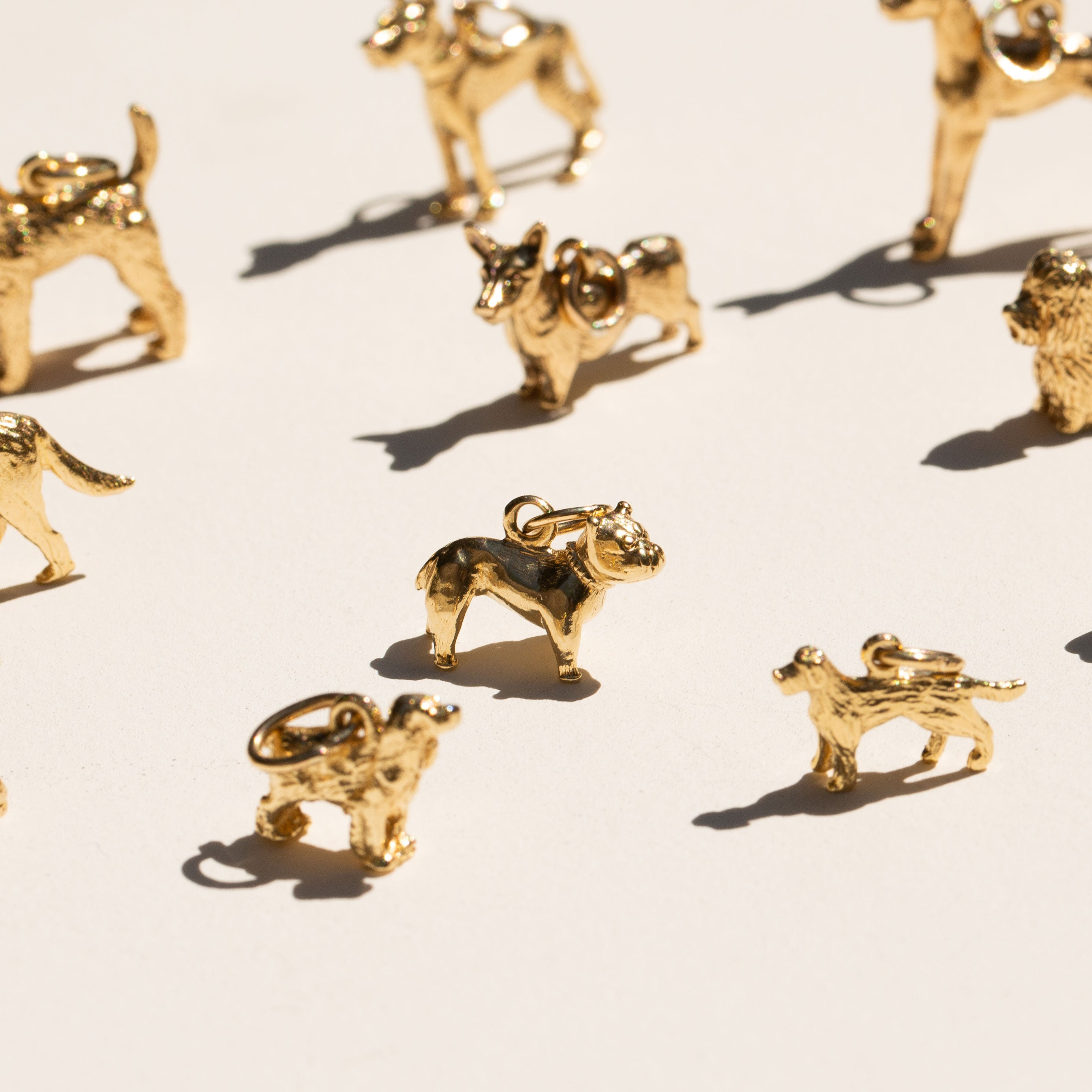 Bulldog 10K Gold Dog Charm