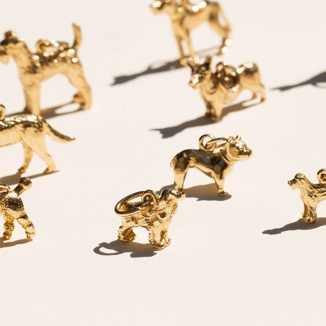 Cocker Spaniel 14k Gold Dog Charm
