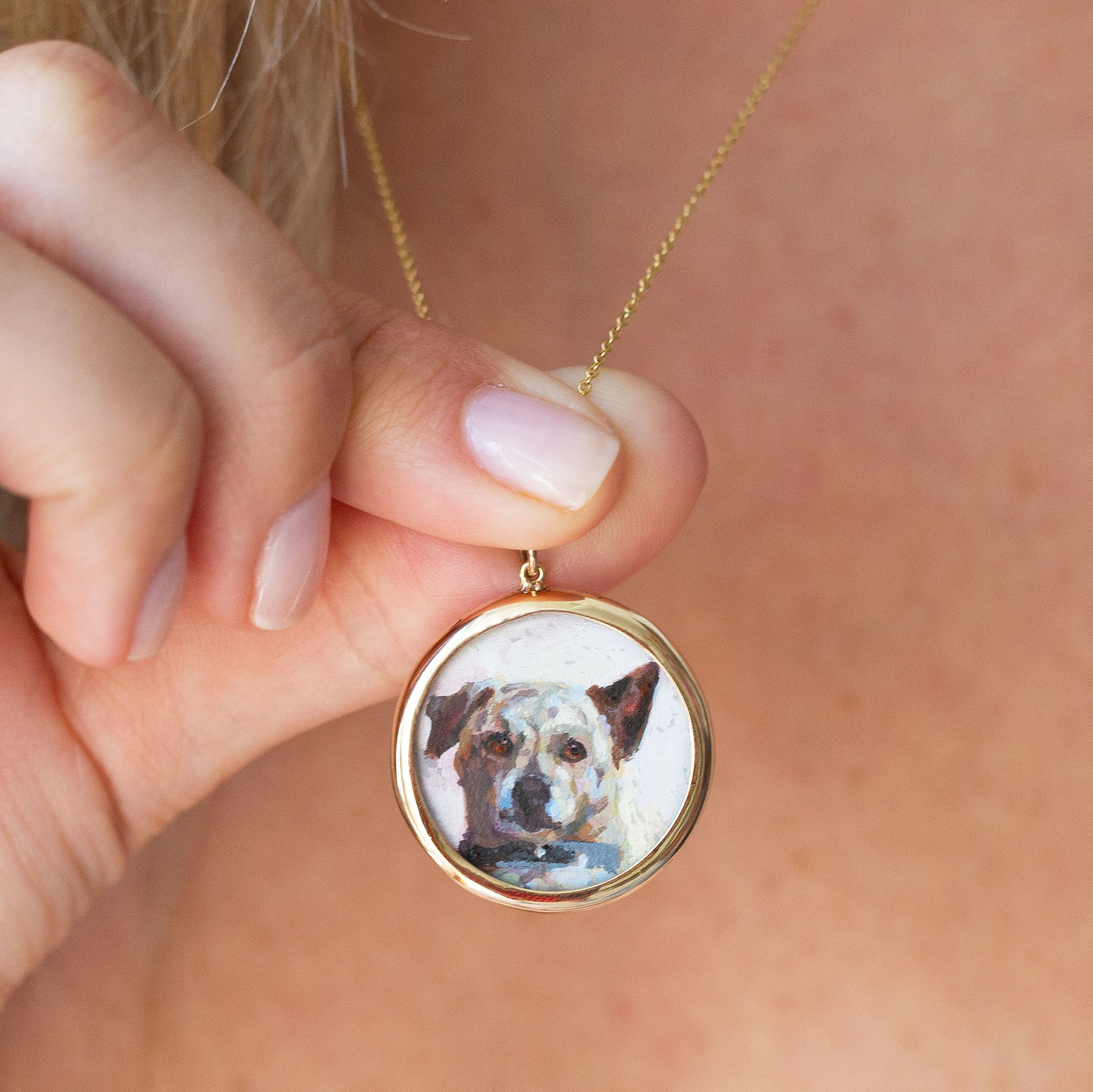 The F&B Custom Hand-Painted Pet Portrait Necklace