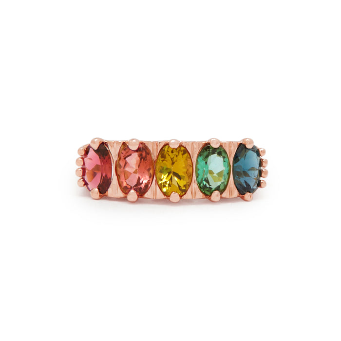 The F&B Rose Gold Tie-Dye Ombre Ring
