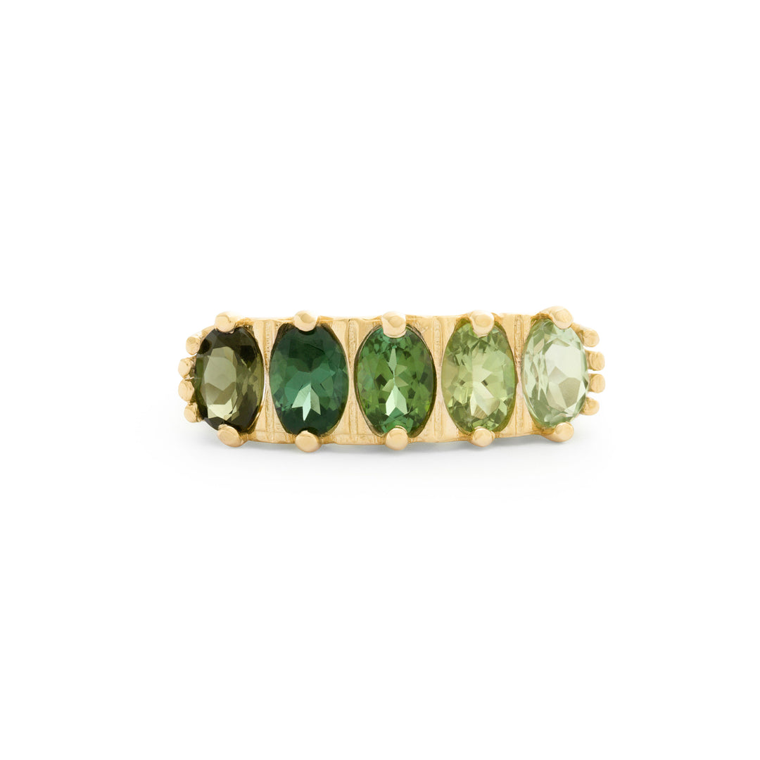 The F&B Leafy Ombre Ring