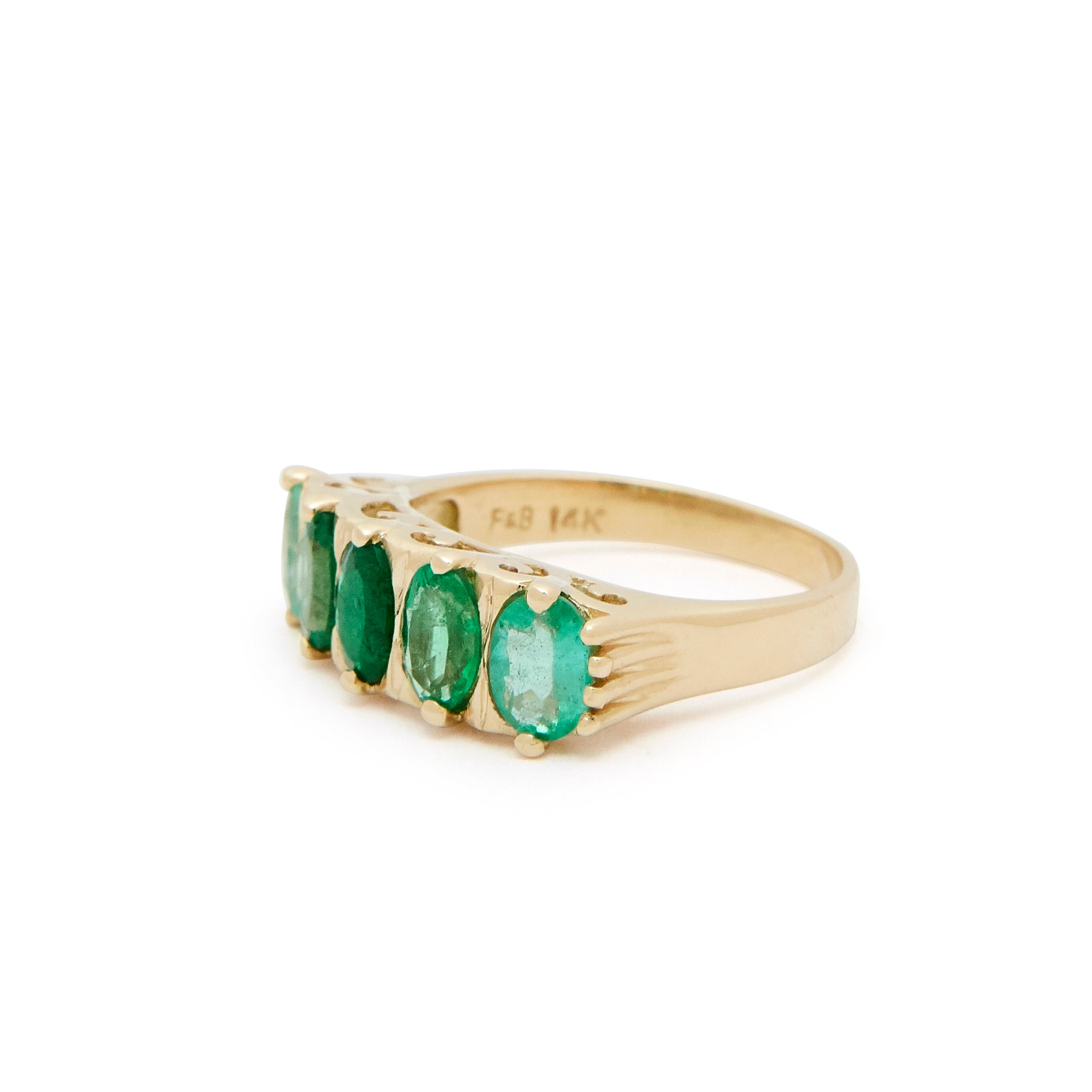 The F&B X Gemfields Emerald Ombre Ring