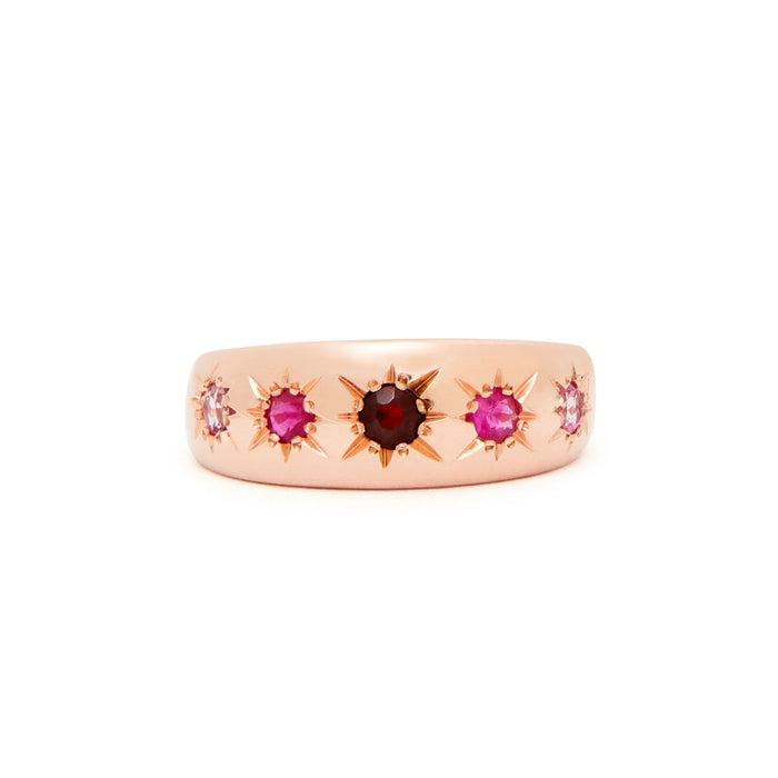 The F&B Red Starburst Ring