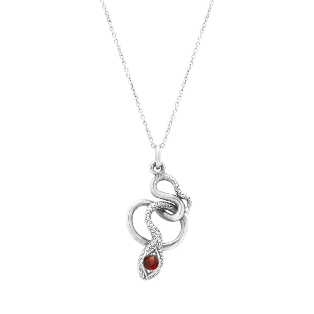 The F&B White Gold Snake Charmer Necklace