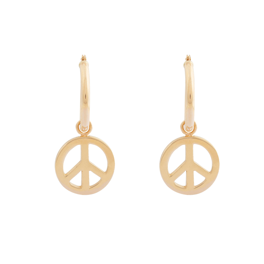 The F&B Peace Sign Charm Earrings