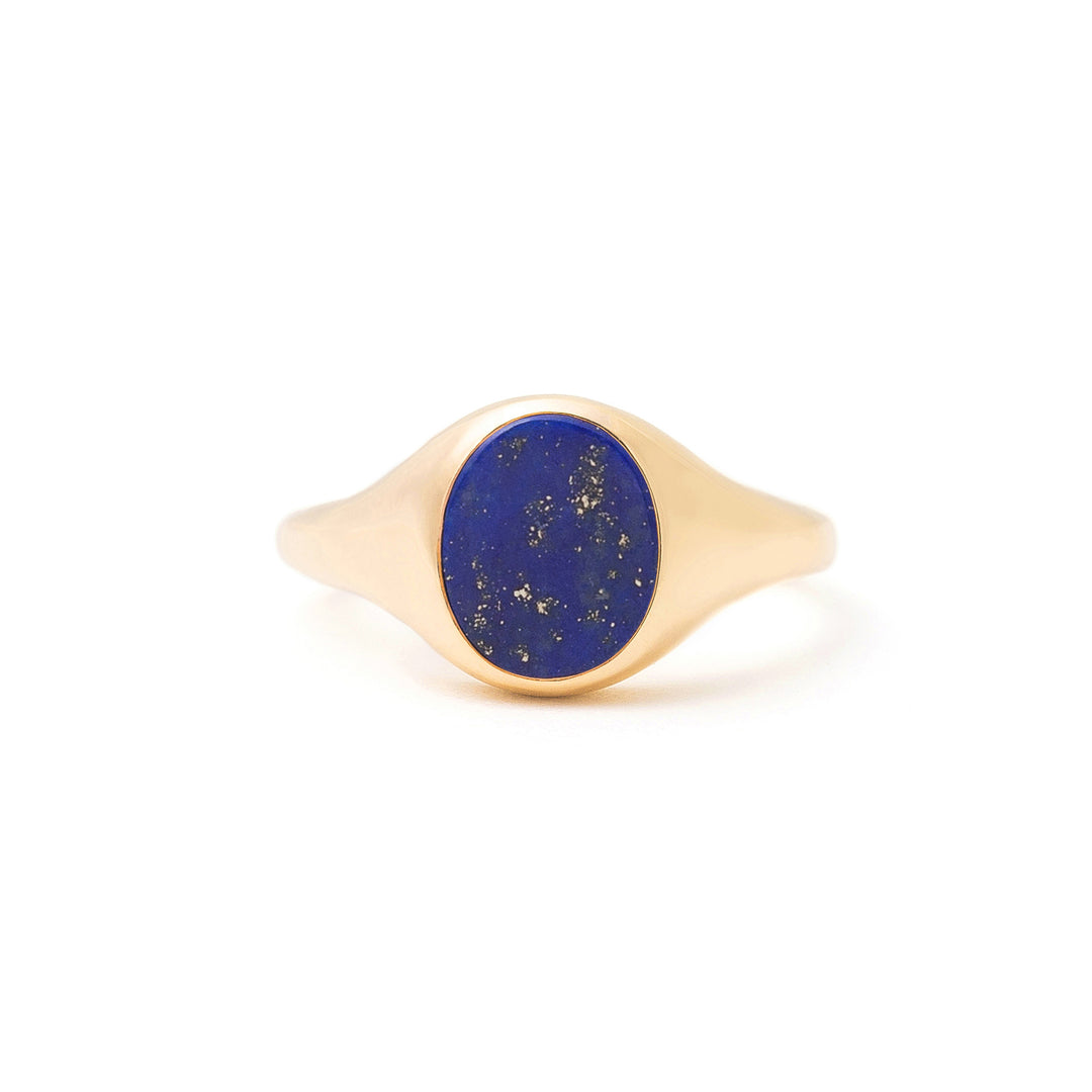 The F&B Petite Stone Signet Ring