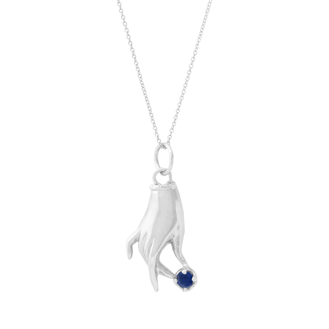 The F&B White Gold Birthstone Hand Charm