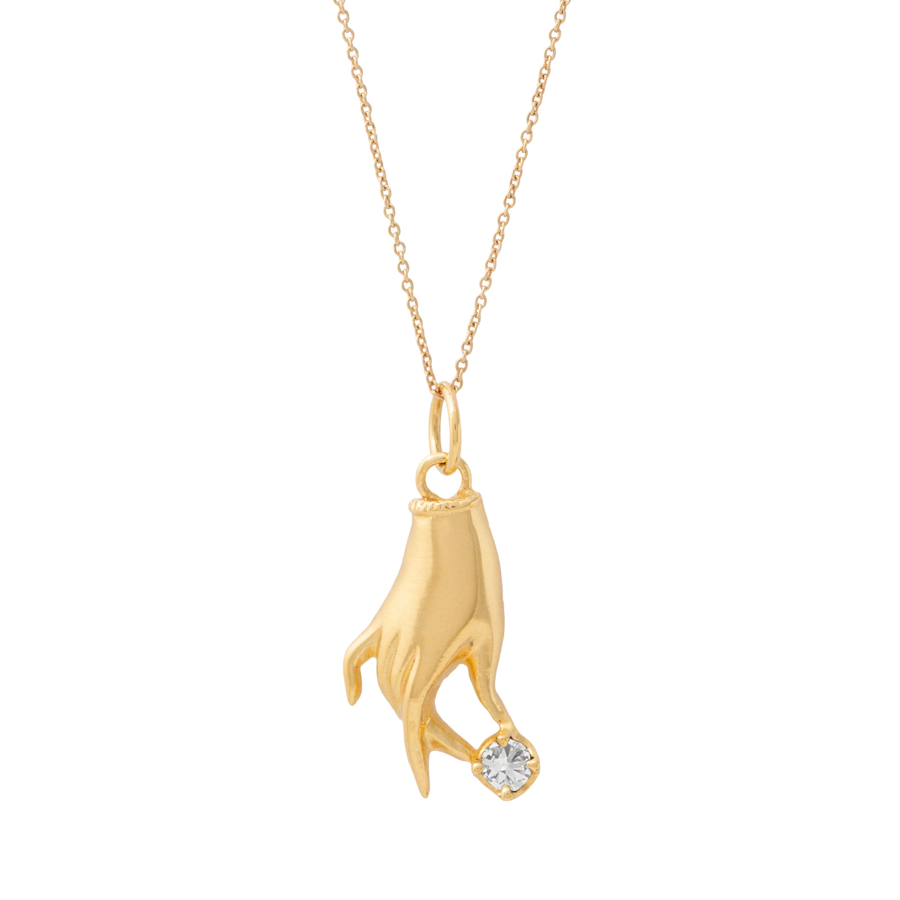 The F&B Yellow Gold Birthstone Hand Charm
