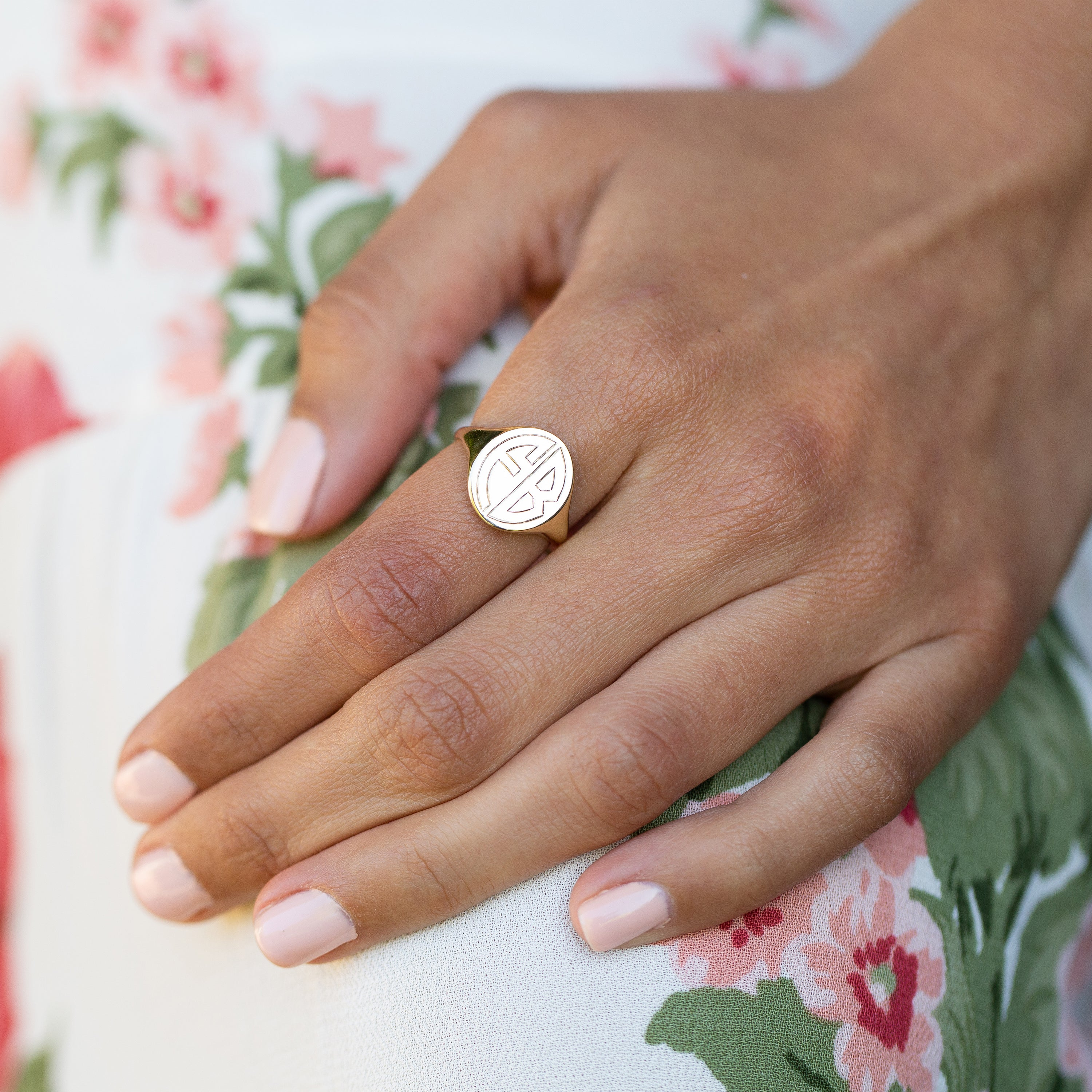 The F&B Large Gold Signet Ring