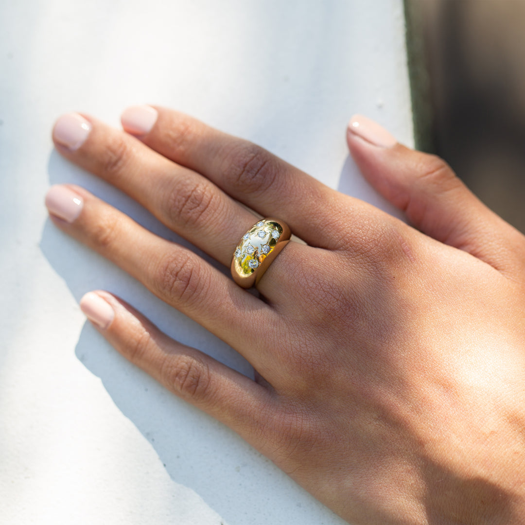 The F&B Diamond Starburst Dome Ring