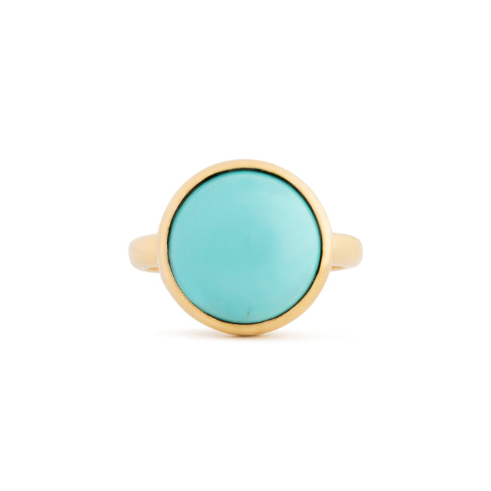 The F&B Turquoise and 14k Gold Ring