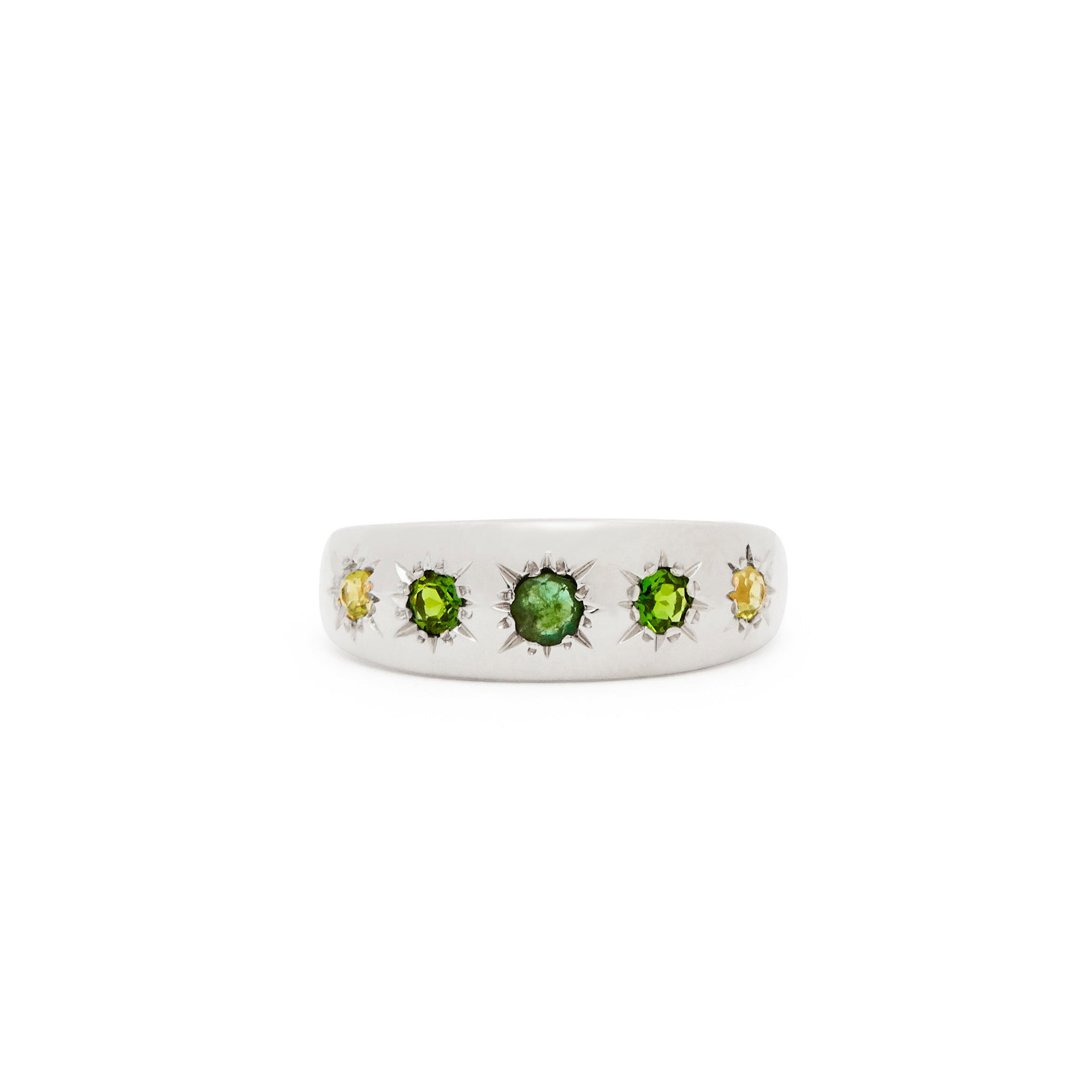 The F&B Green Starburst Ring
