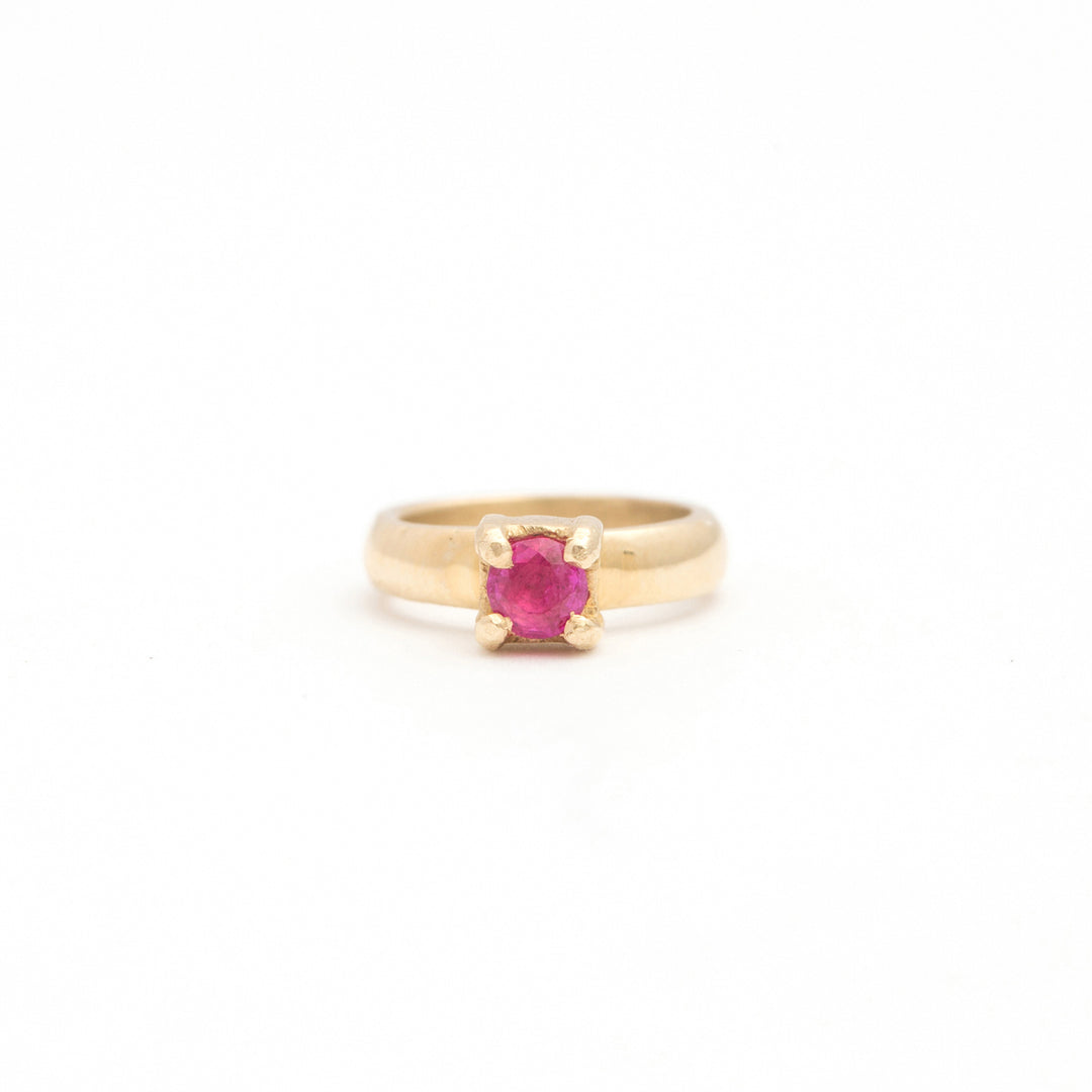 The F&B Yellow Gold Birthstone Mini Ring Necklace