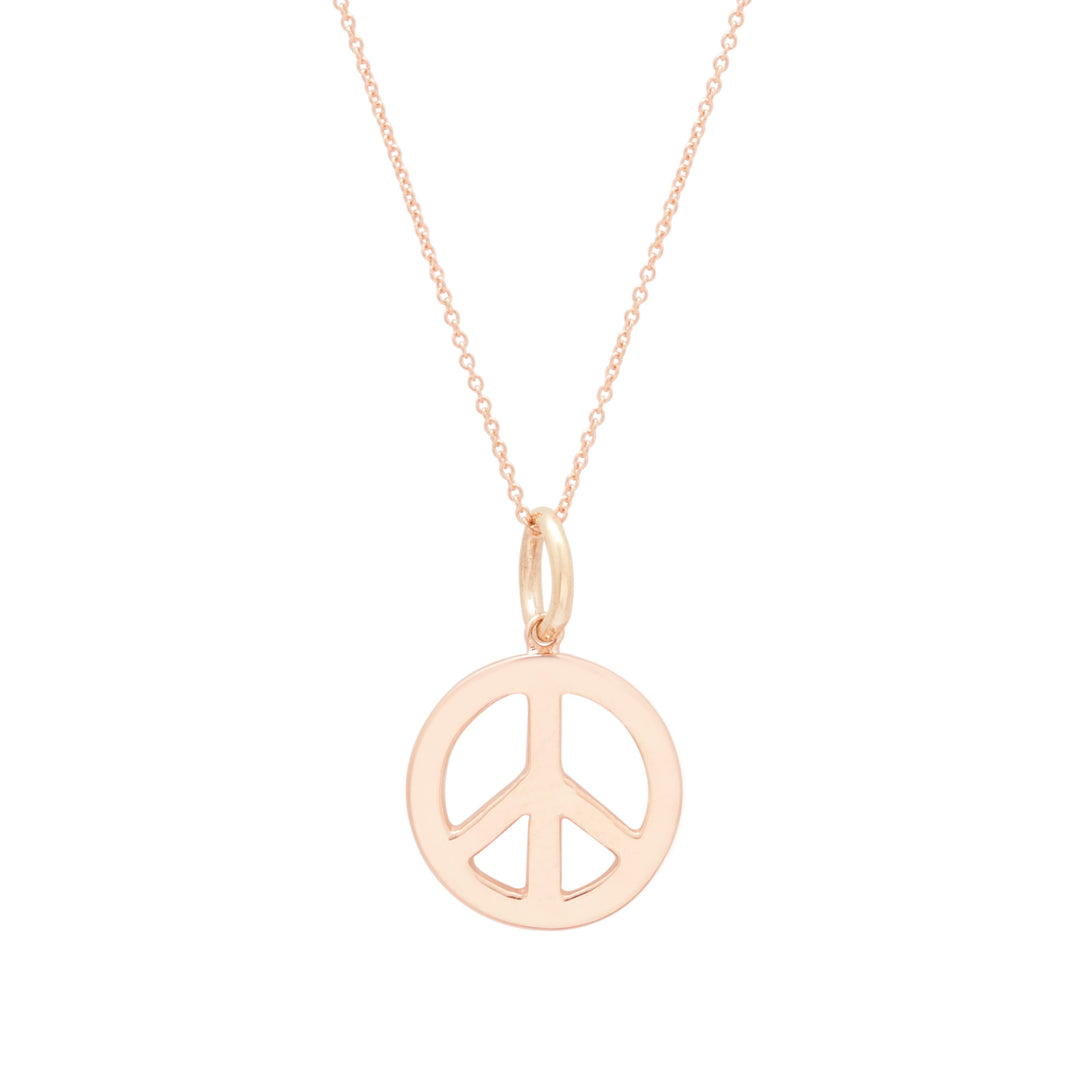 The F&B Peace Sign Charm Necklace