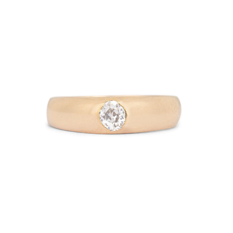 Hungarian Old Mine Cut Diamond And 18k Gold Ring