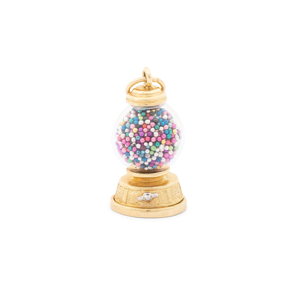 Gumball Machine 14k Gold Charm