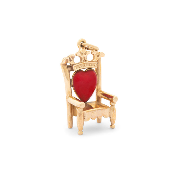 Heart Throne With Enamel And 14k Gold Charm