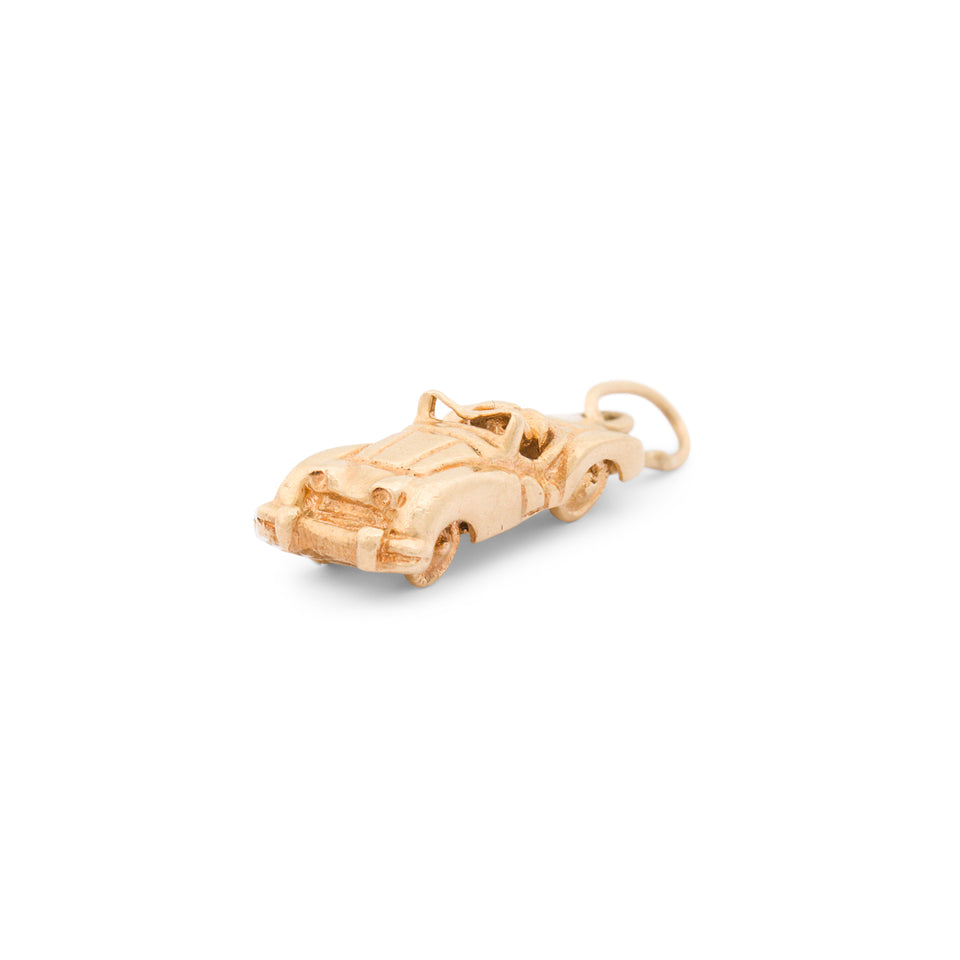 Convertible Car 14k Gold Charm