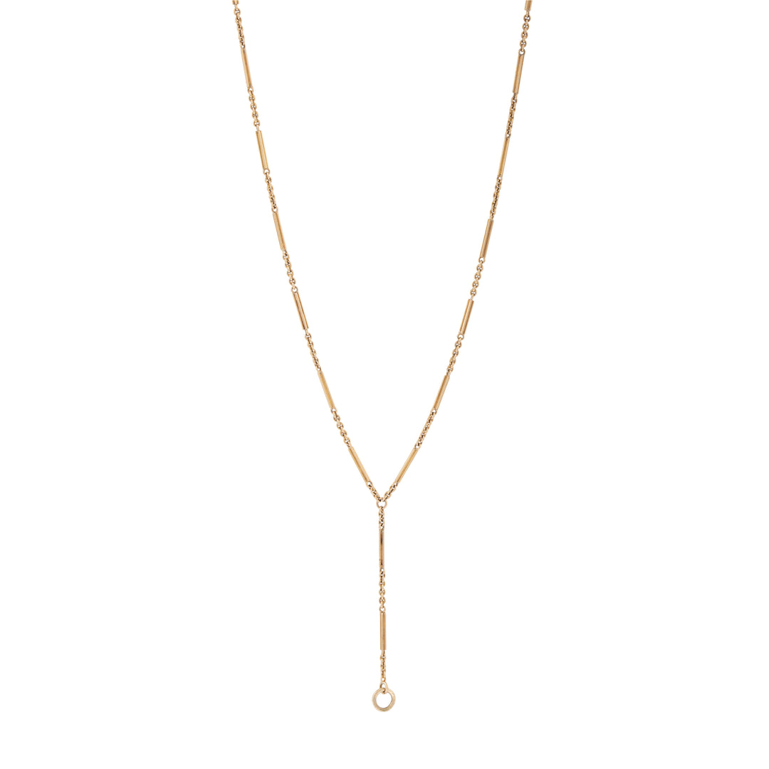 Edwardian Extra Long 18k Gold Chain Necklace