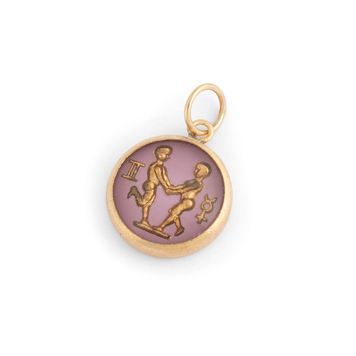 Gemini 14K Gold Bubble Charm