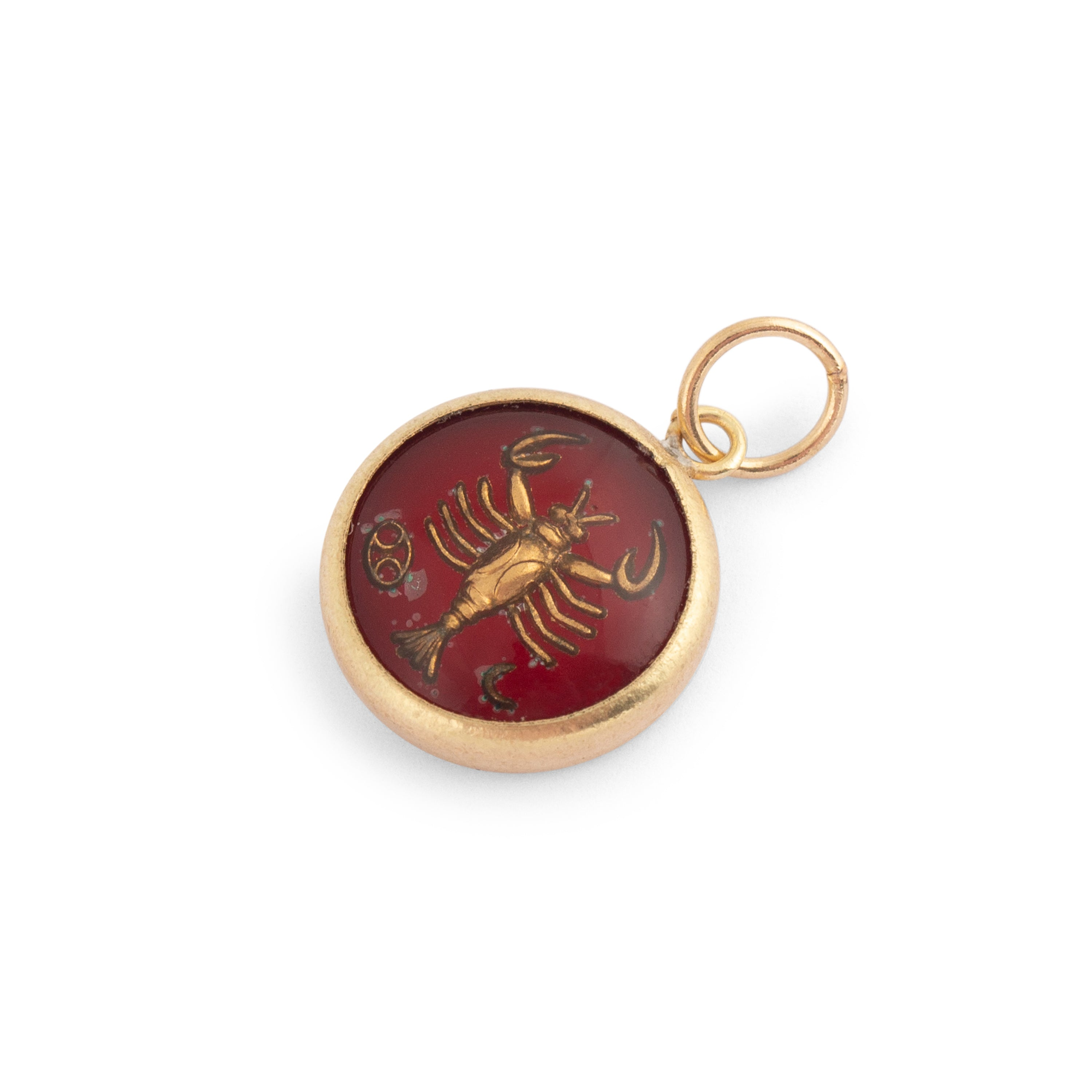 Cancer 14K Gold Bubble Charm