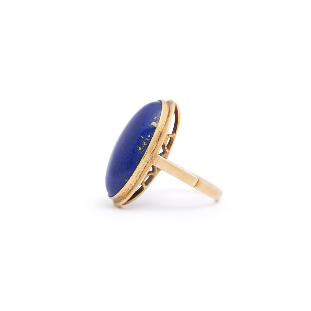 Lapis Lazuli and 14k Gold Ring