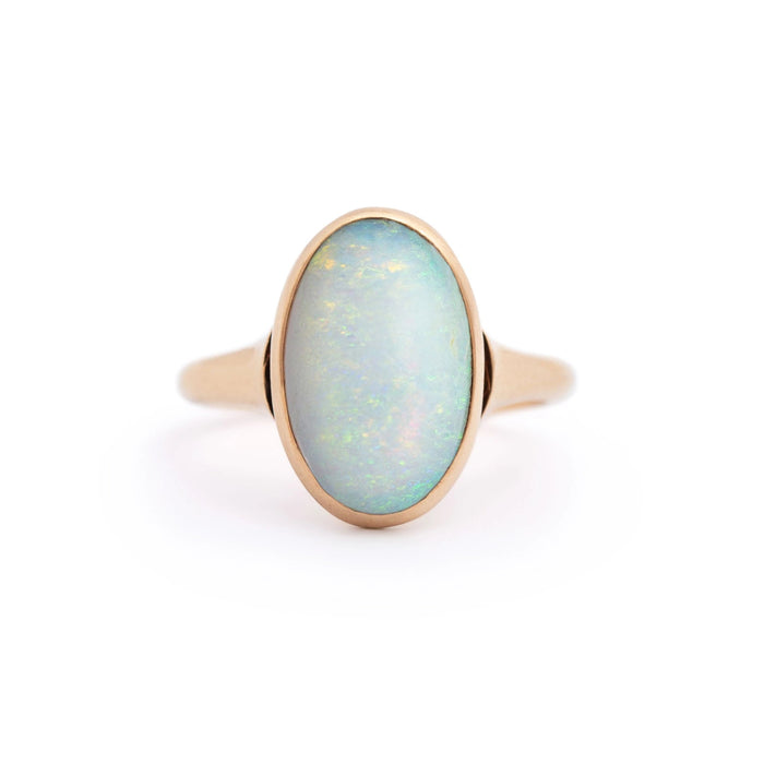 Opal and 14k Rosy-Yellow Gold Ring