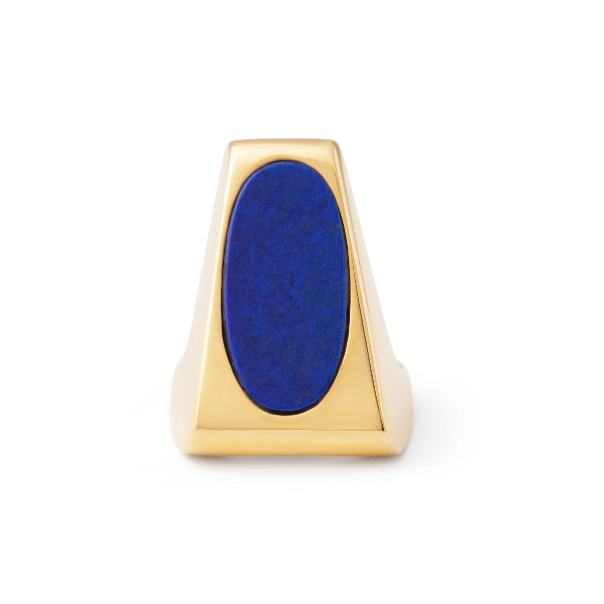 Lapis And 14k Gold Sculptural Ring