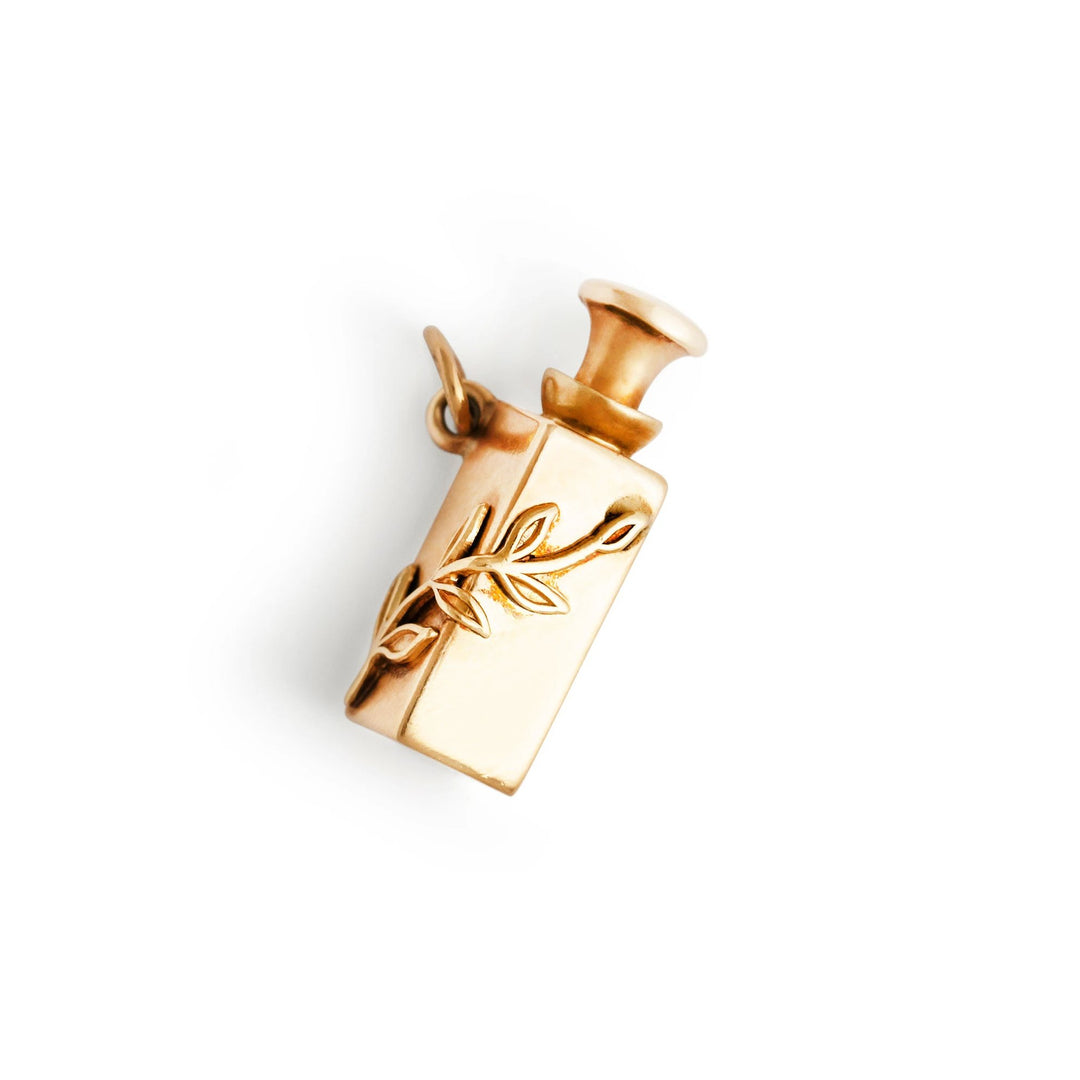 Movable 14k Gold Perfume Bottle Charm