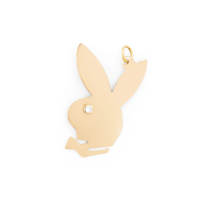 Diamond and 14k Gold Playboy Bunny Charm