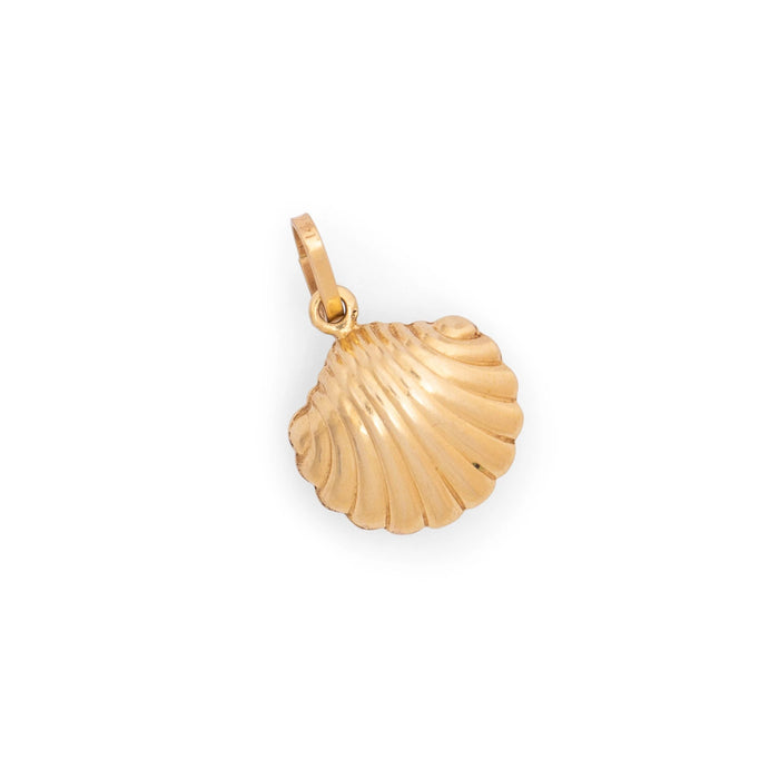 Clam Shell 18K Gold Charm