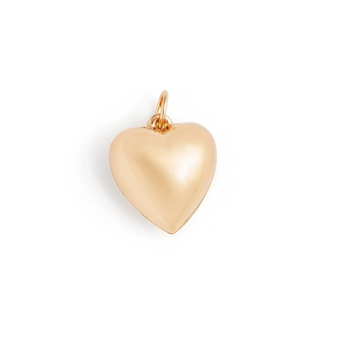 Puffy Heart 14k Gold Charm