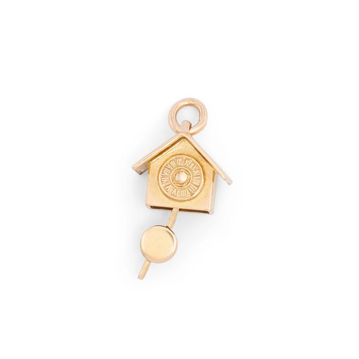 Movable Wall Clock 14k Gold Charm
