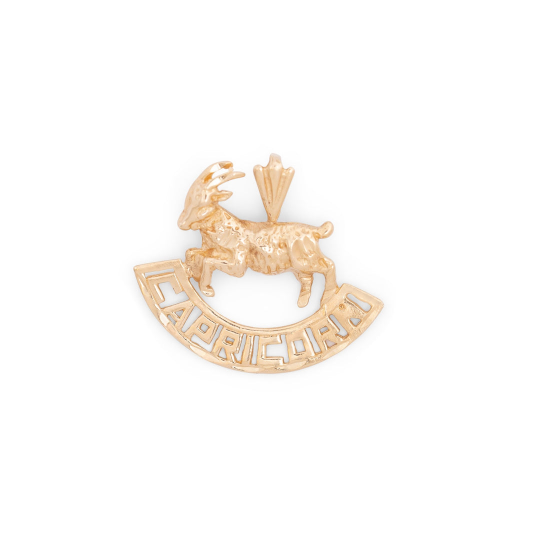 Capricorn Figure 14k Gold Charm