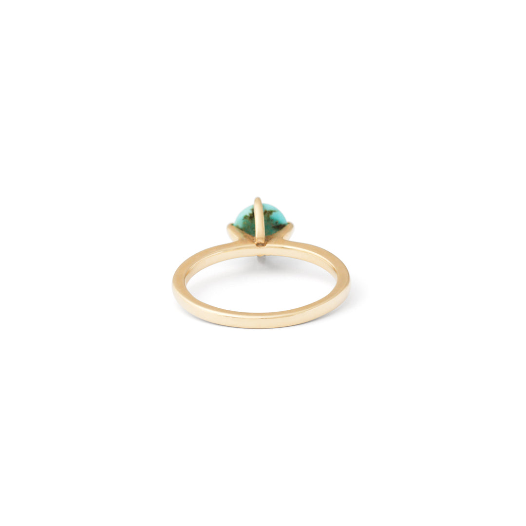Turquoise and 14k Gold Solitaire Ring