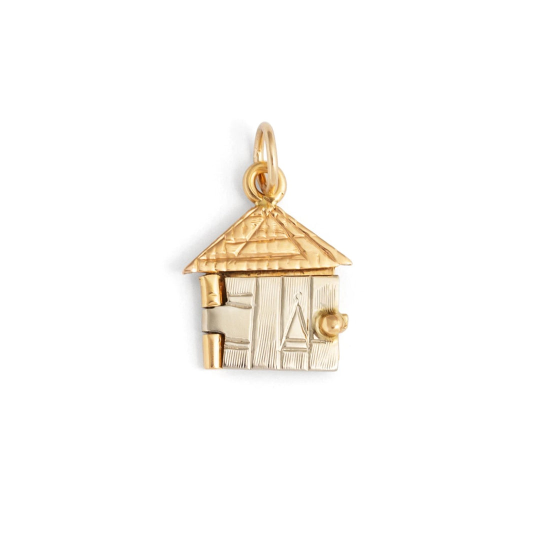Movable Tri-Color 18k Gold Lover's Cottage Charm