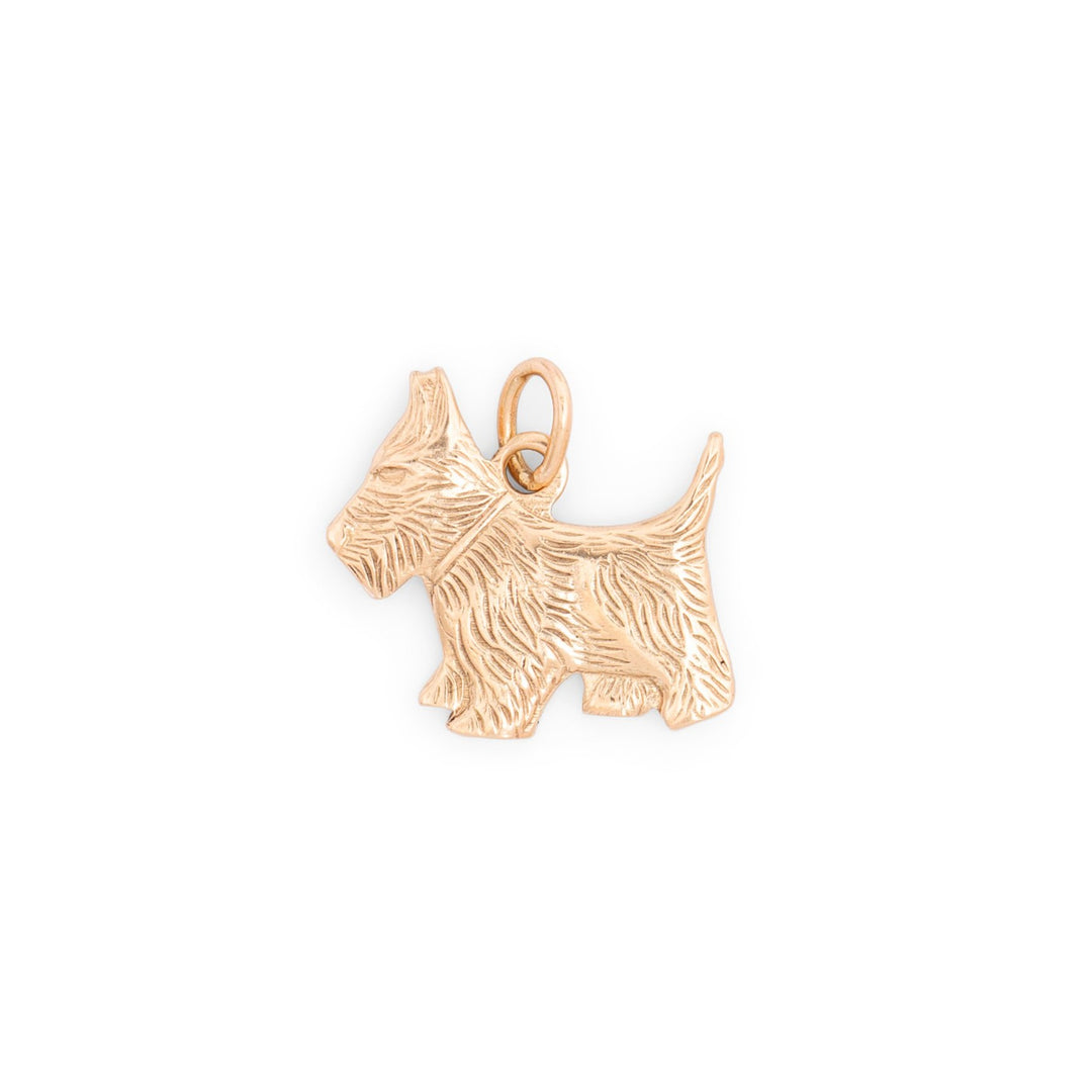 Scottie Terrier 10K Gold Dog Charm