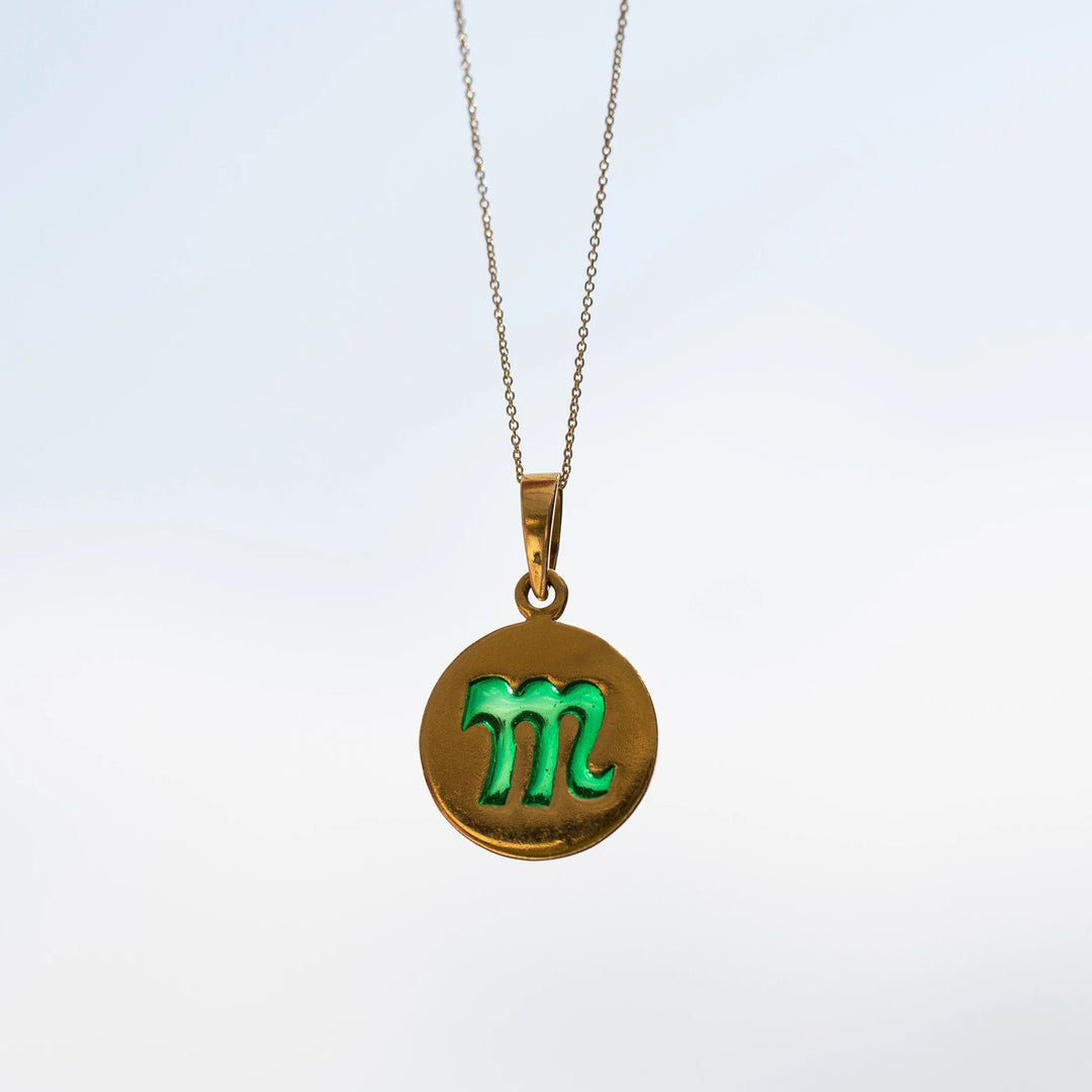 Scorpio 18k Gold and Plique-À-Jour enamel charm