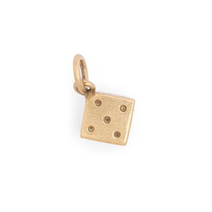 Single Dice 14K Gold Charm