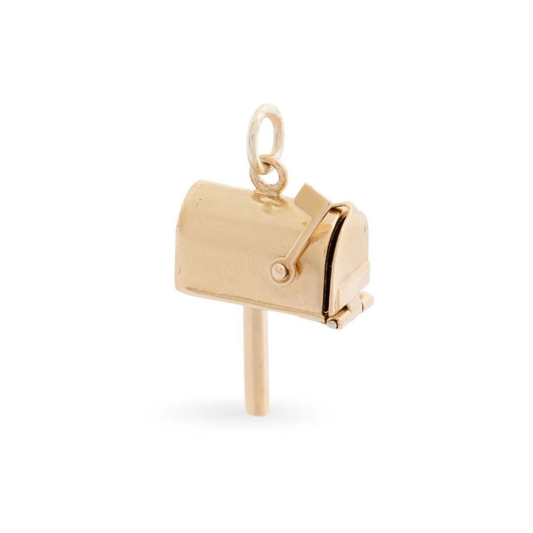 Movable Mailbox 14k Gold Charm