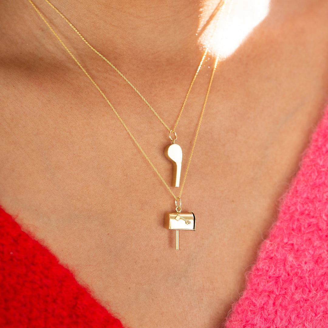 Whistle 14K Gold Charm