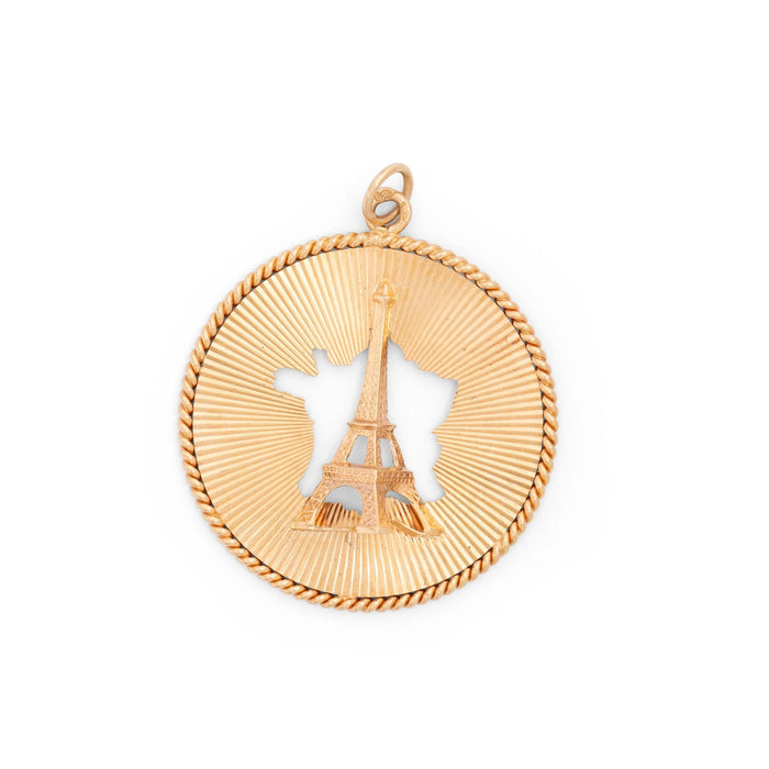 French 18k Gold Eiffel Tower Charm