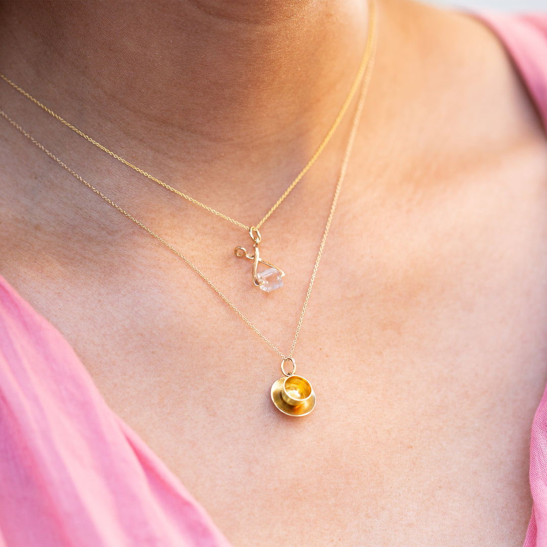 Coffee Cup 14K Gold Charm