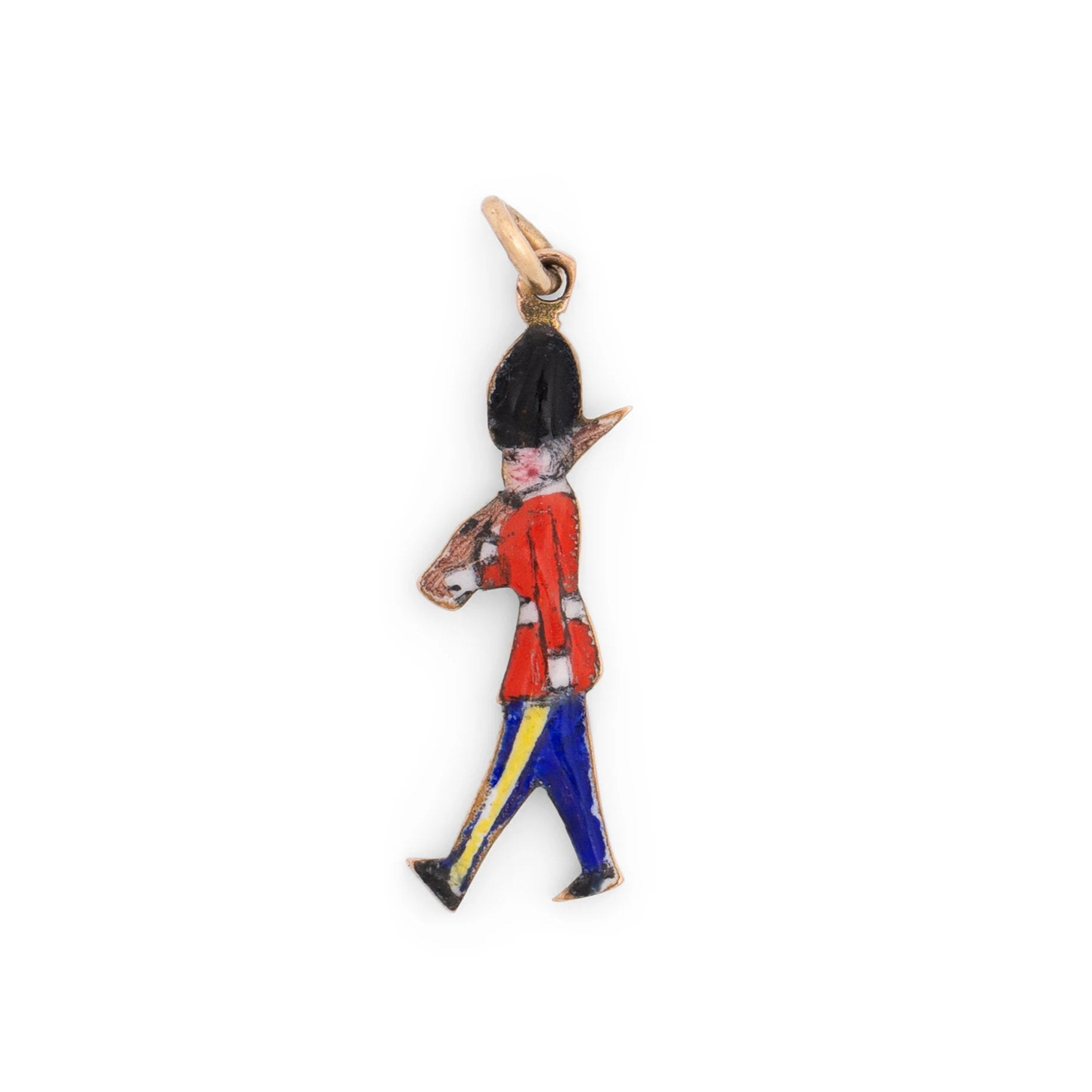 English Queen's Guard 9k Gold and Enamel Charm
