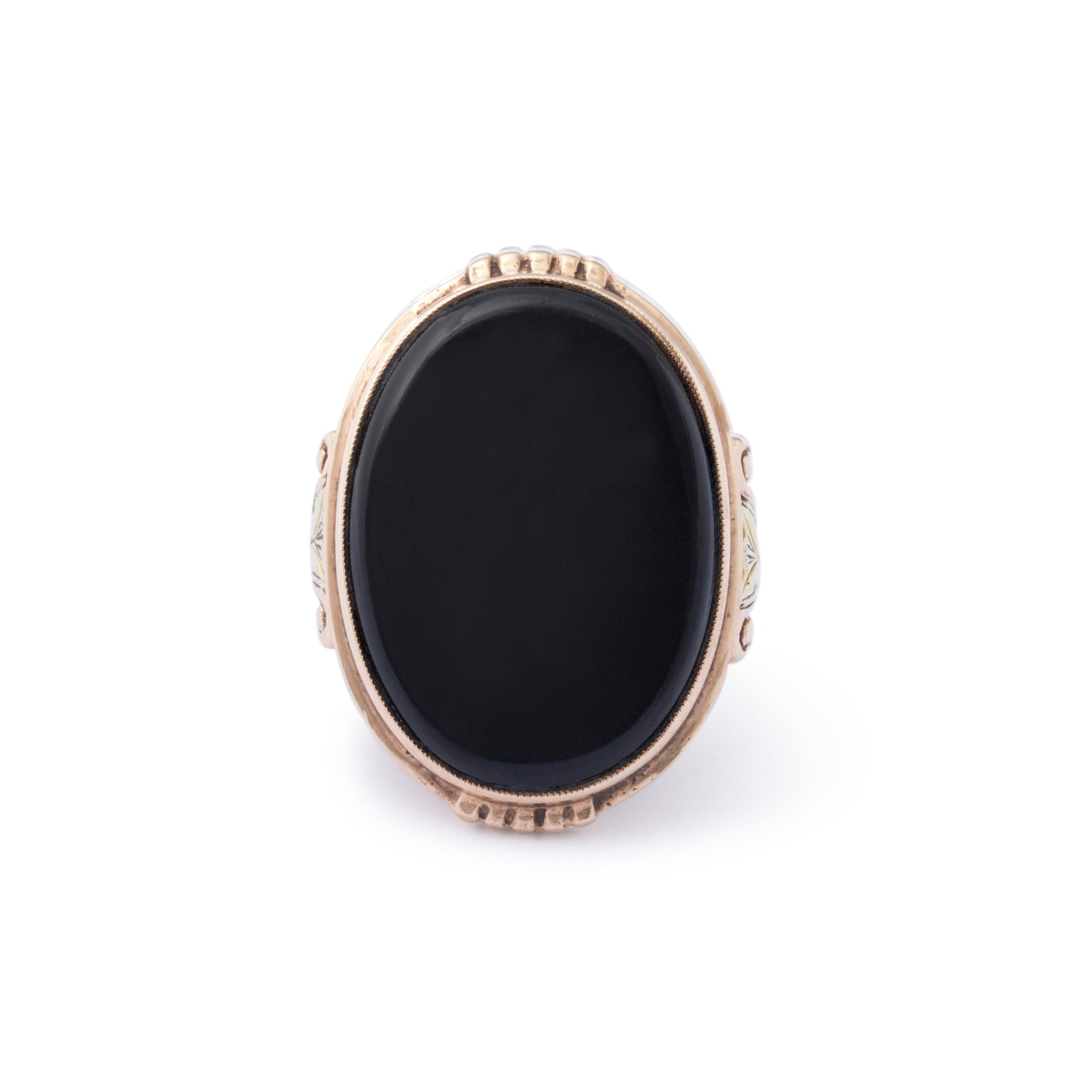 Victorian Onyx and 10k Gold Ring