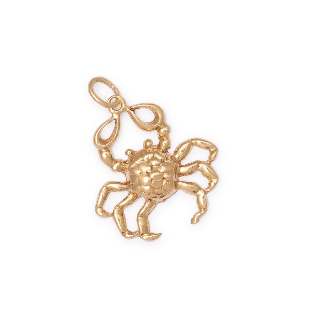 Cancer Crab 9K Gold Charm